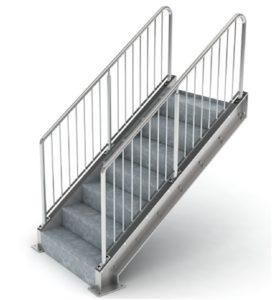 steel handrail detailing